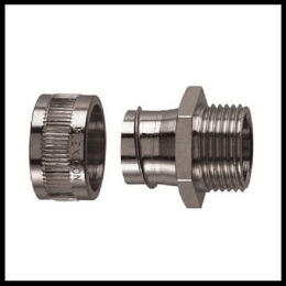 Gi flexible conduit adaptor with lock nut